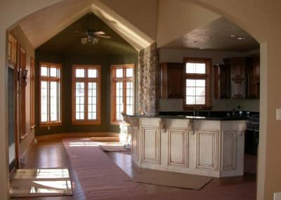 Kitchen and Great Room Home Build